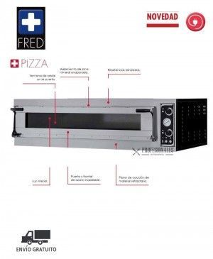 Horno Pizza Multiuso TRAYS GLASS 4 Fred
