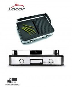 Placa Grill Doble Eléctrica 69200 Lacor