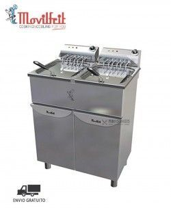 Freidora Industrial Modelo FAP17+17 400 Movilfrit