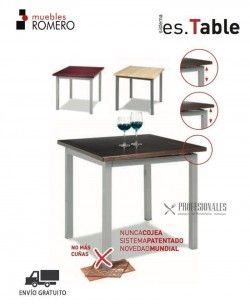 Mesa Plastificado en Color Aluminio M3510 Muebles Romero
