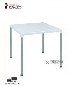 Mesa Apilable Color Blanco Prime Muebles Romero